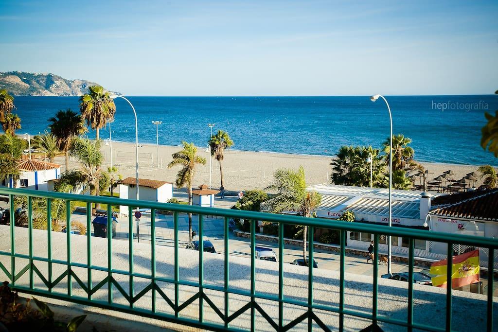 View from the balcony. Burriana beach.