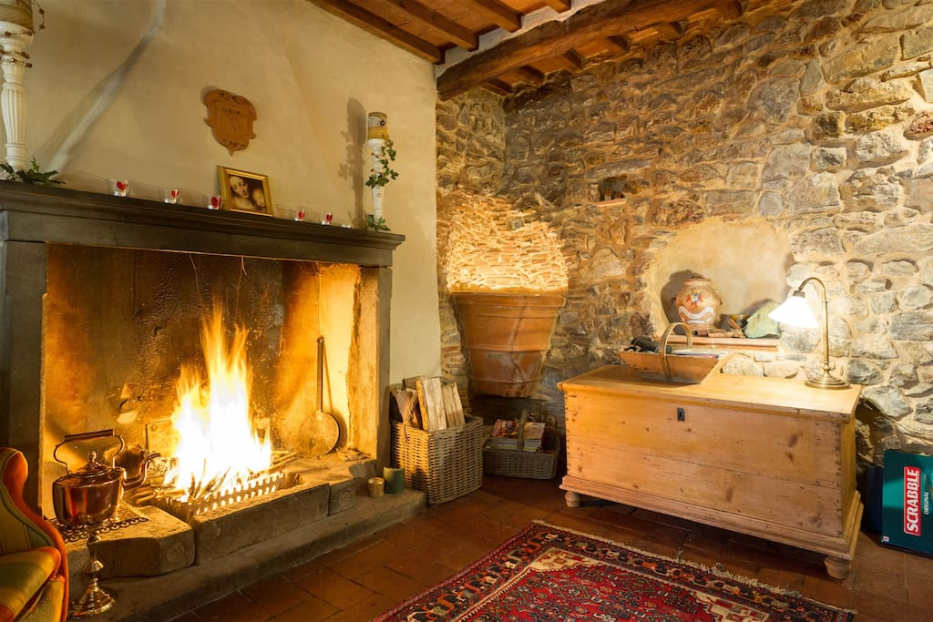 Snuggle up to a real log-fire