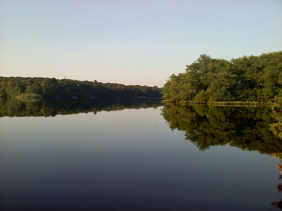Big Fresh Pond is nearby, with a sandy bathing beach with rest rooms and trails.  A real Hampton Gem.