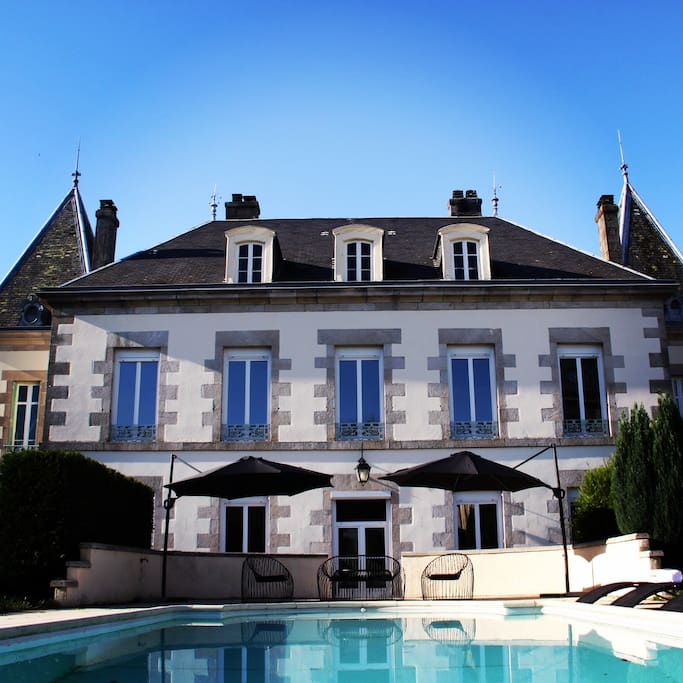 The whole chateau with pool is yours to enjoy