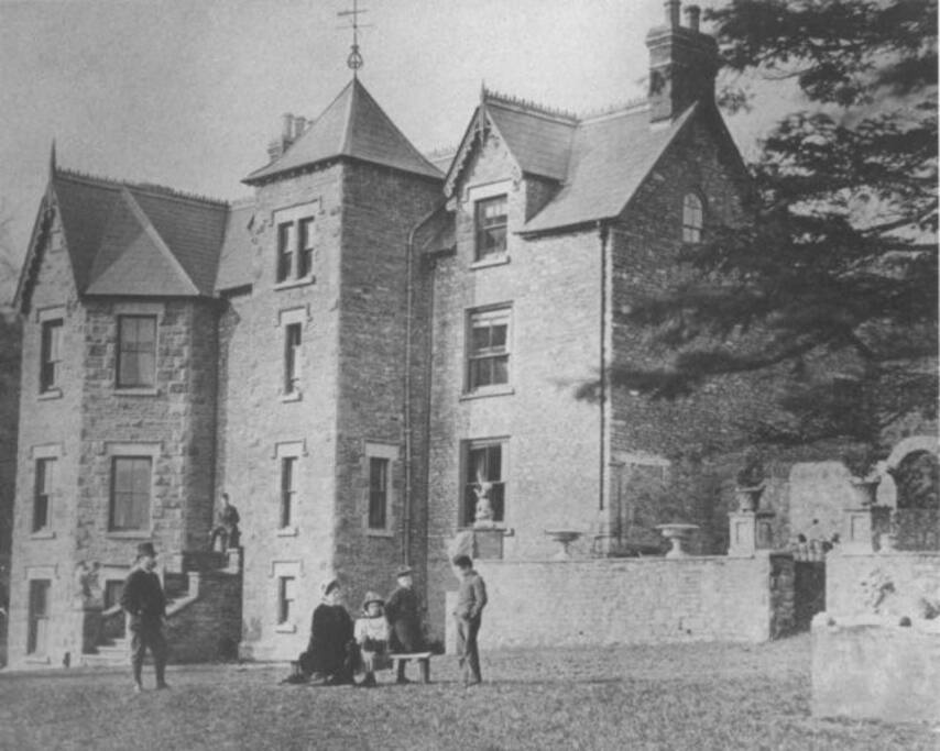 A Historic photo 1880 showing the owners at that time