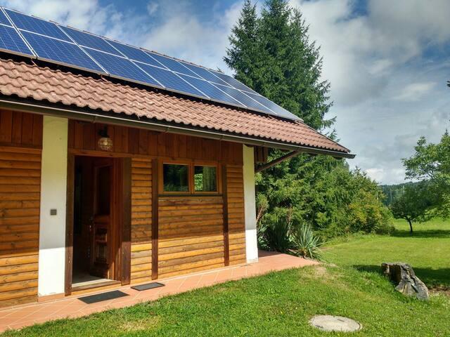 Kleine Ferienwohnung mit Terrasse und Waldblick
