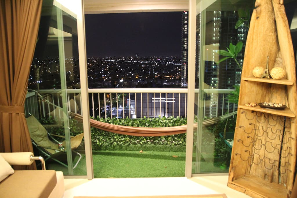 The Zen balcony. Perfect place for chillaxing at night :)
