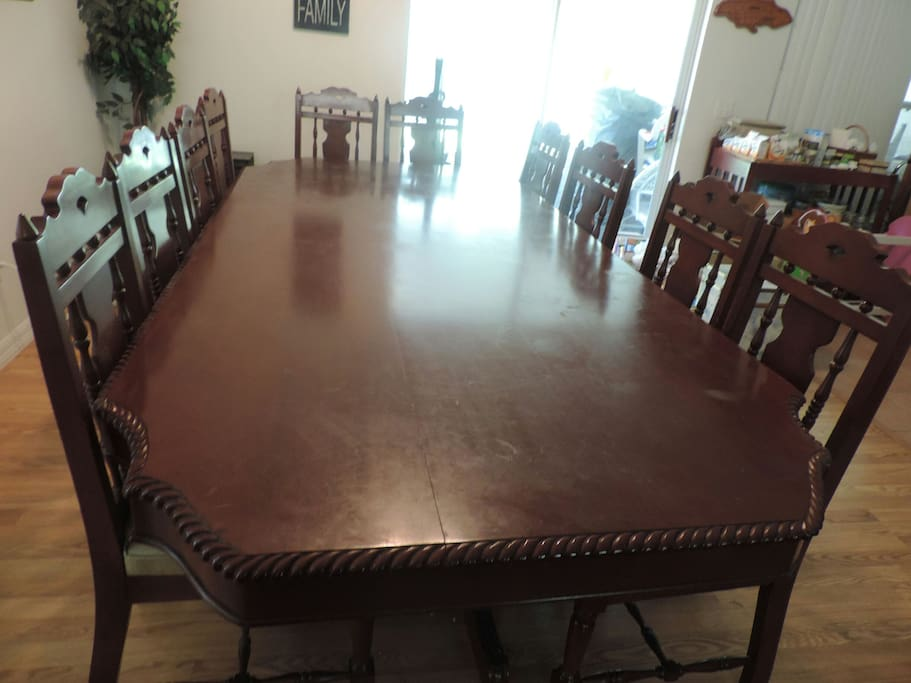 Dining or Conference table seats 10 ppl