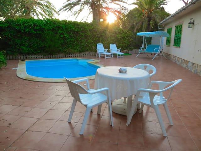 Cala Pi Pool and 500m2 garden. WIFI - Llucmajor - Huis