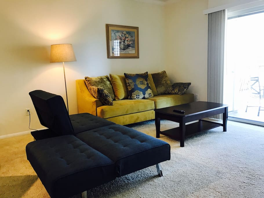 Living room with sofa bed and Smart TV!