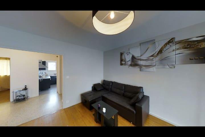 Appartement 60m2 proche centre deux - Saint-Étienne - Apartamento