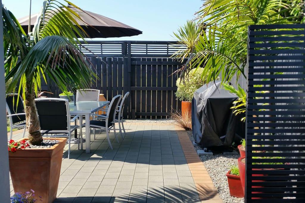 Sunny BBQ area