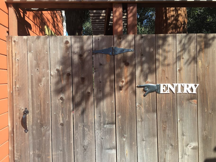 Gate to your HUGE, private backyard and entrance