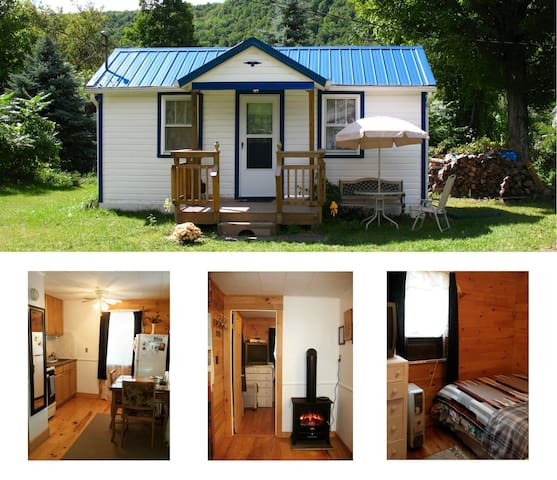 Catskill Bungalow Tiny House Rental Windham Hunter - Prattsville - Hytte