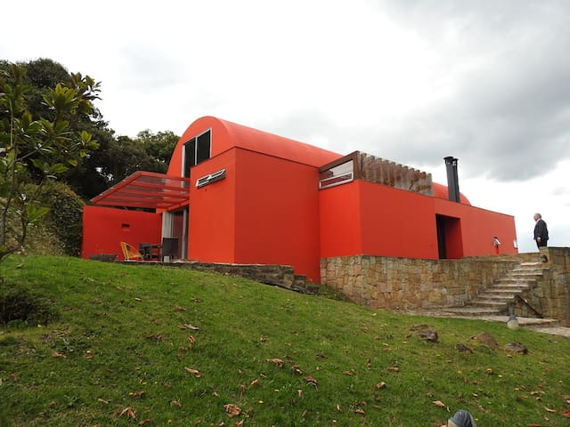 The Red House at the mountain