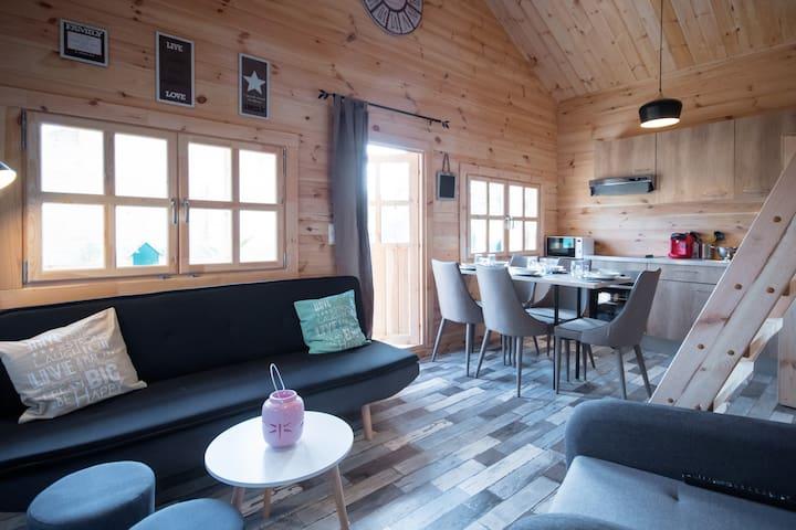 Cottages 5 personnes avec piscine chauffée - Tréguidel - Bungalou