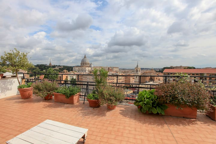 ROOFTOP- BREATHTAKING view S. Peter's- parking