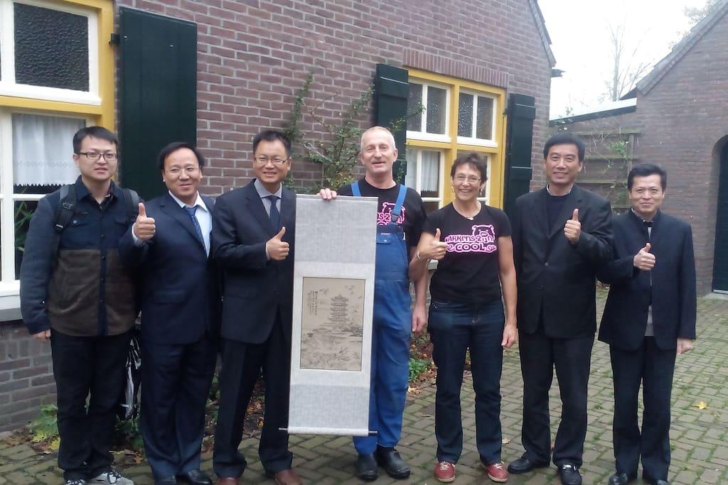 excursie van een Chinese delegatie voor onze zichtstal