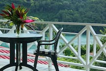 Imagine meals on the balcony with a cool breeze and nice views..