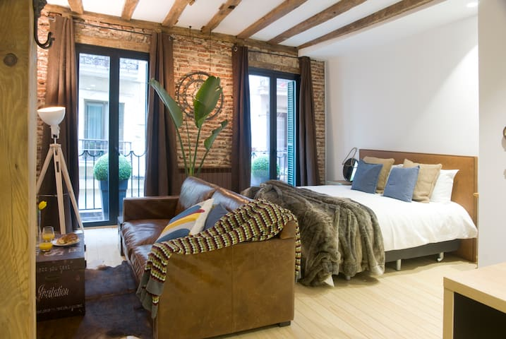 Old town Luxury factory suite. - Donostia - Daire