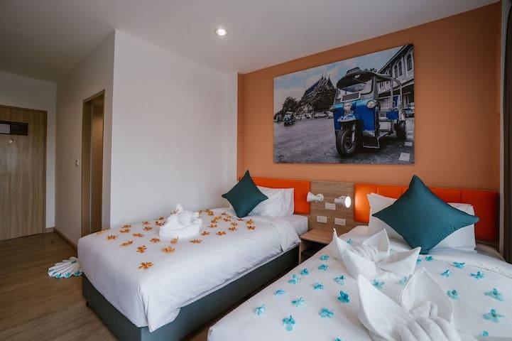 Chromatic Space w/TwinBed nearby DonMueang Airport