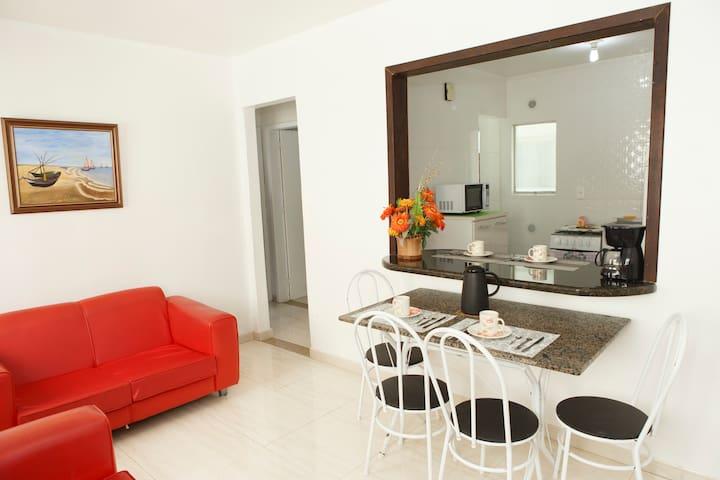 Sala com vista para a cozinha