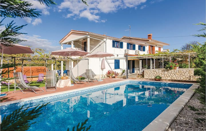 Nice home in Nedescina with WiFi and 5 Bedrooms