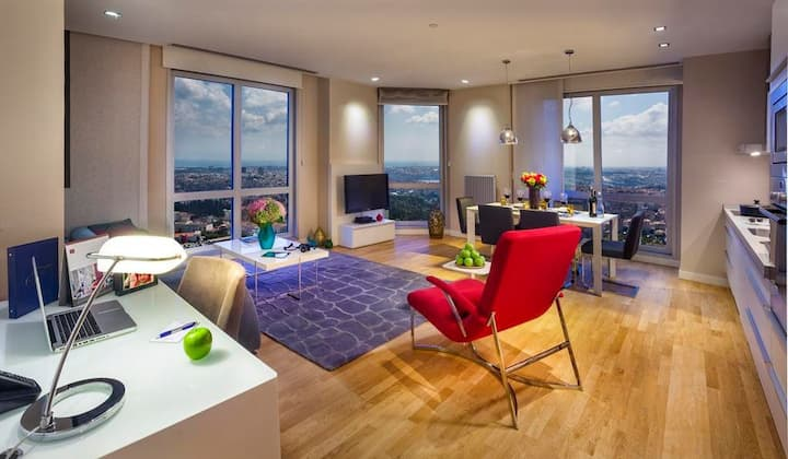 LUXURY RESIDENCE 40TH FLOOR 2+1 BEST VIEW IN CITY