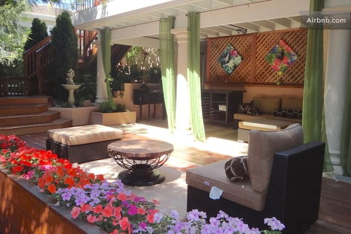 Little Paradise 2BR Sauna Terrace Silicon Valley - Saratoga - Hus