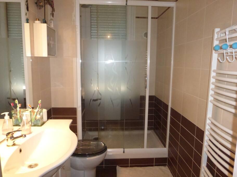 Salle de bain de et wc de l' étage