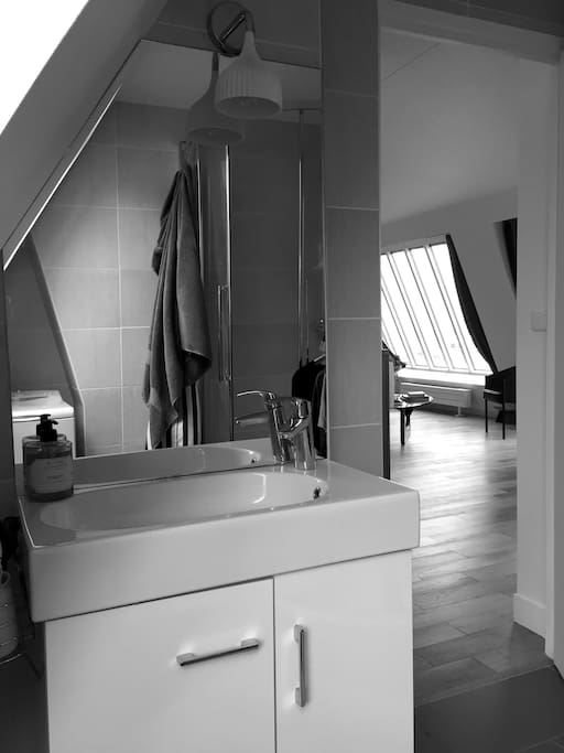 Clean bathroom to share with my guest