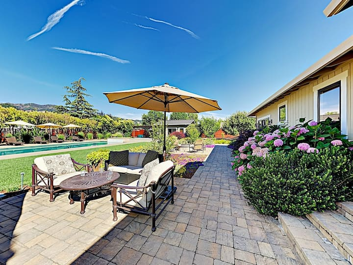 Wine Country Home with Pool, Cabana & Bocce Court