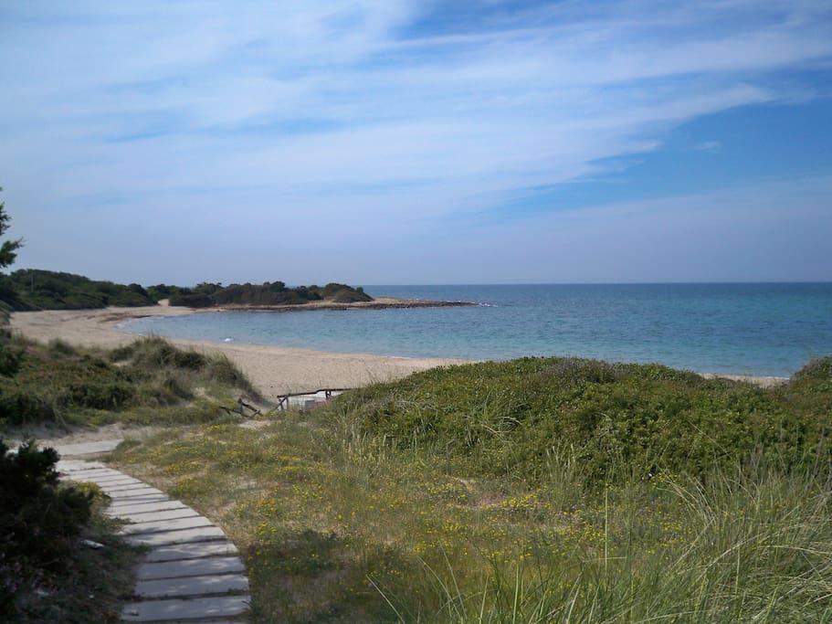 la splendida spiaggia privata