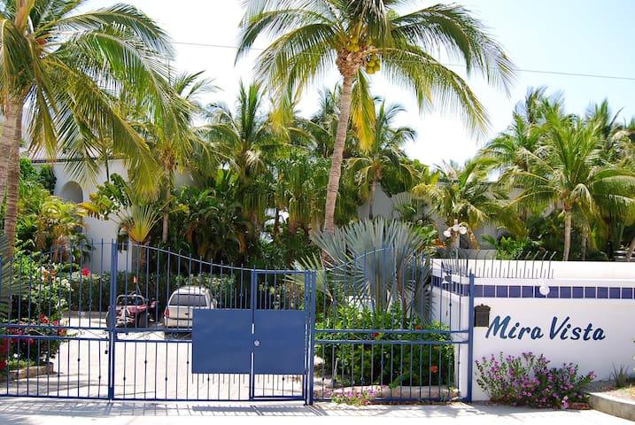 Entrance to Mira Vista Condos from the street