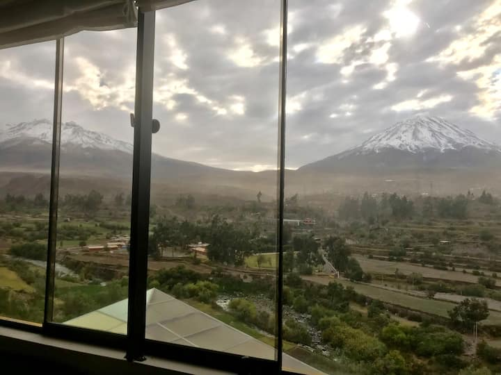 ✰Best view in Arequipa in a Comfy Apt with Garden✰