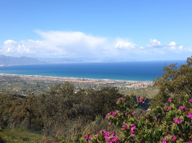 Cozy 2BD, sea view, pool, garden - Cefalù - Wohnung