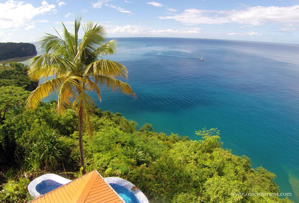The view from the Caribbean Blue Suite - romance has met its match!
