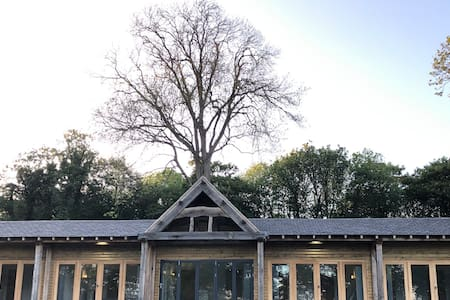 Lodges in woodland grounds of a stately home