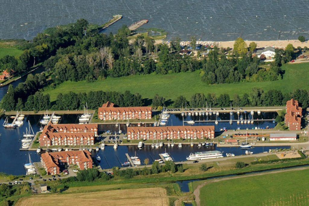 Luftbild Ferienanlage Lagunenstadt Ueckermünde