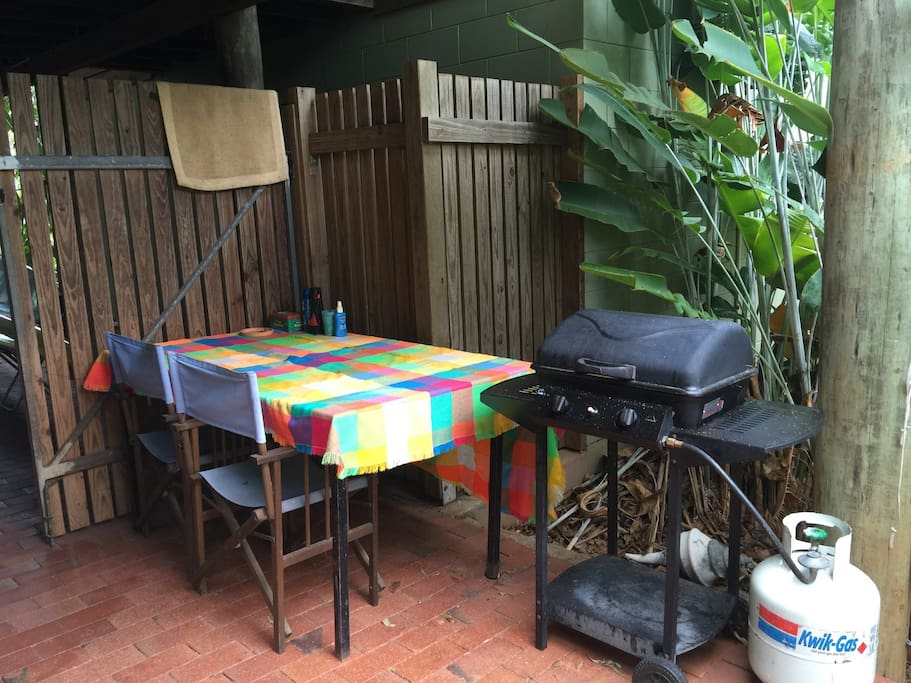 Your own outdoor undercover cooking and eating area