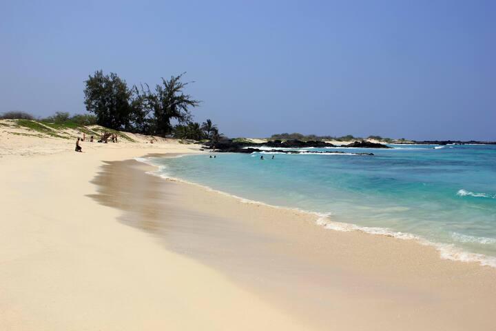Kekaha Kai, a close and secluded tropical beach