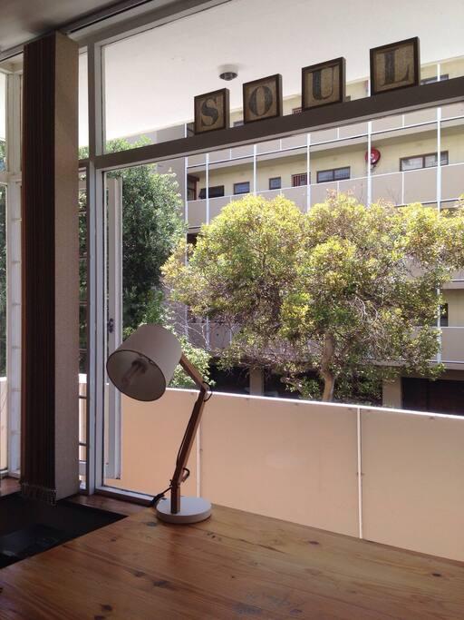 BALCONY! natural light, privacy, trees