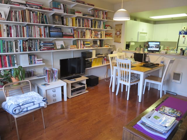 Lots of books and magazines for browsing; Sorry, TV actually gone for now.