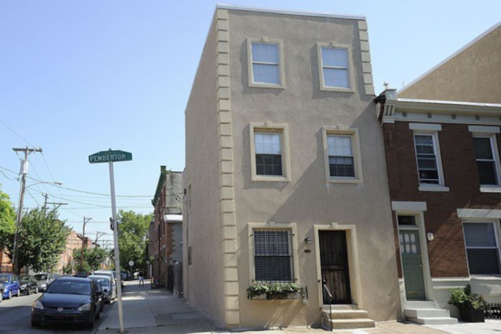 Corner three story home in a charming neighborhood right below historic Rittenhouse Square