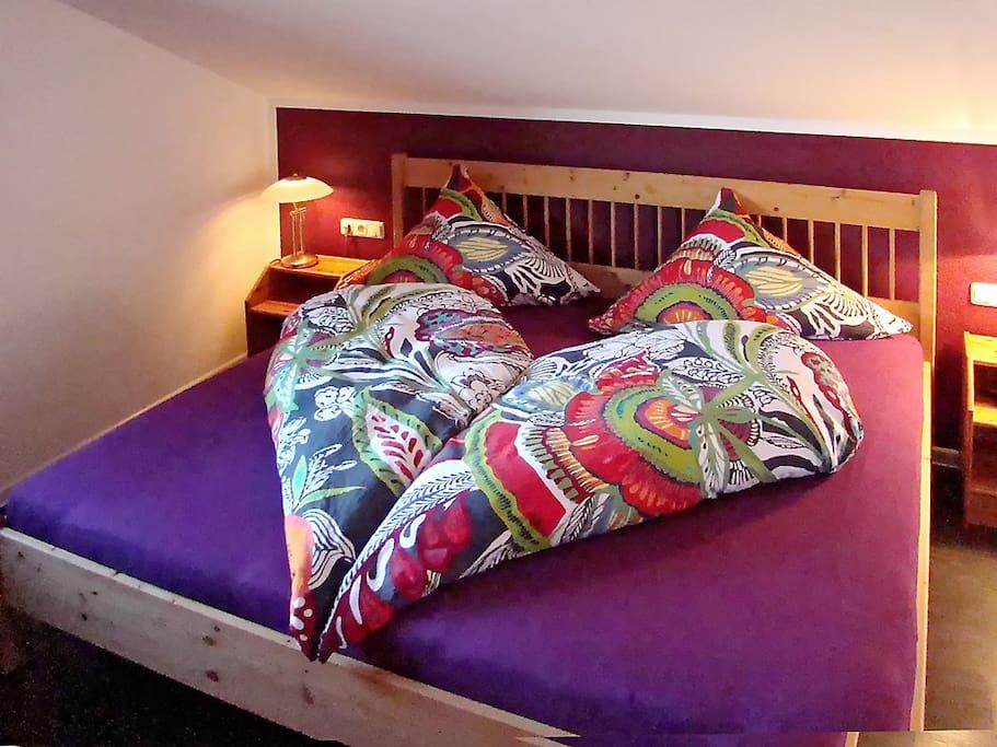Wohlfühlzimmer für einen geruhsamen Schlaf.