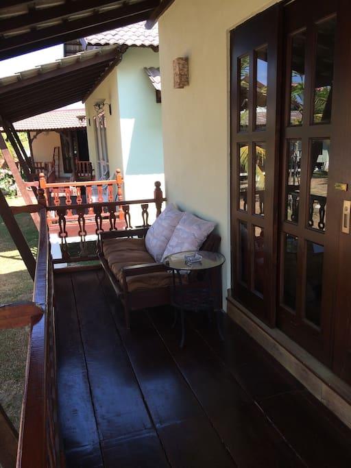 Breezy Verandah and Chalet Entrance