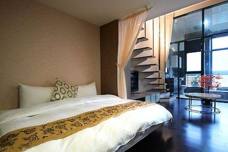 Hot spring split level en-suite(2 double beds) - Jiaoxi Township - Bed & Breakfast