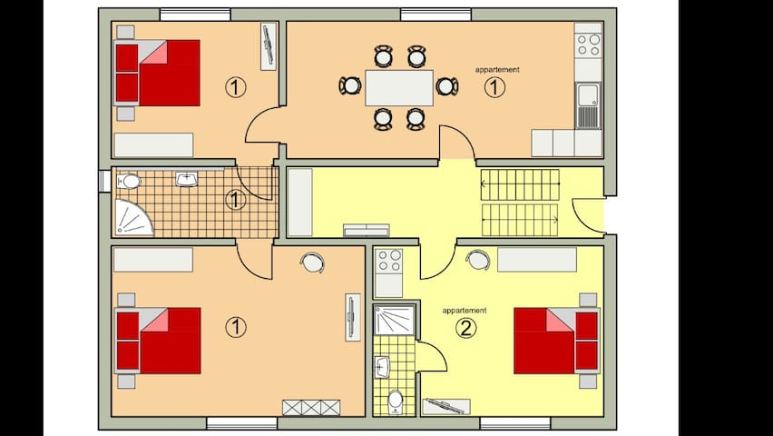 2 helle, neuwertige Appartement - Straubing - Apartment