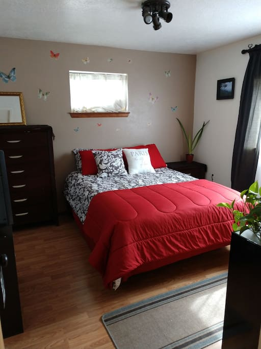 Cozy room with Dish TV