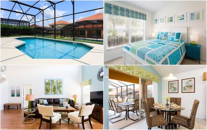 AMAZING 5BR/4BA Pool Villa. Mins from Disney!