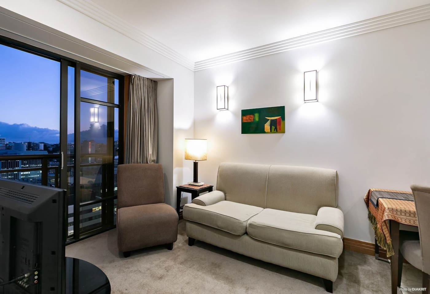 Lounge includes a TV, free WiFi and leads to a balcony