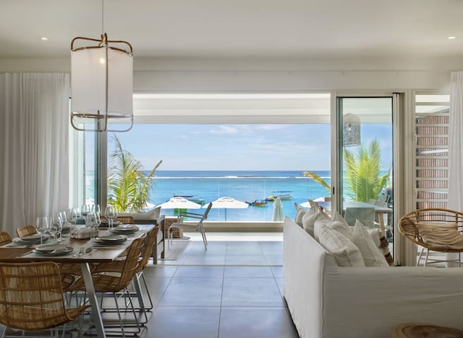 3BR Seaview Luxury Apartment at Trou aux Biches