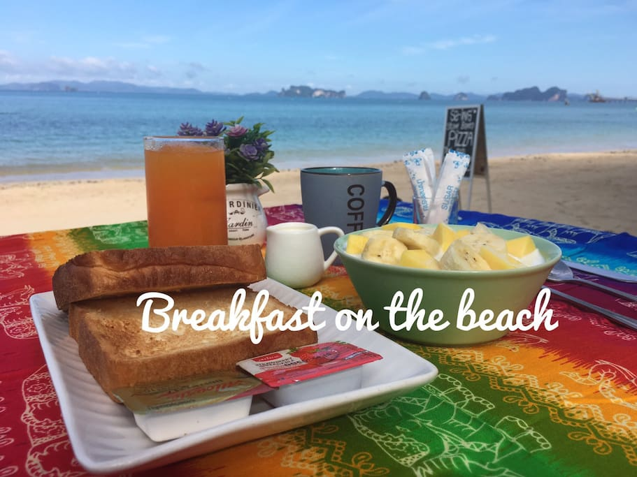 Enjoy your morning with breakfast on the beach