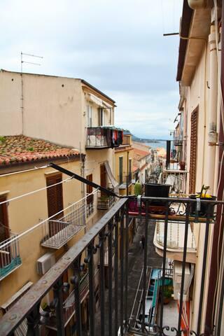 centro storico con terrazzo - Cefalù - Pis